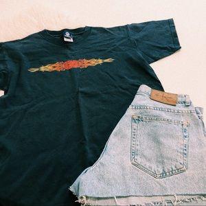 Navy Flame Tshirt